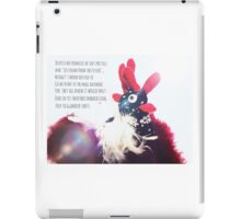 Bridget the chicken's glamour shots obsession  iPad Case/Skin