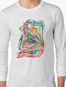 Unknown Butterfly - Small Abstract Landscape, watercolor, ink & pencil on paper Long Sleeve T-Shirt