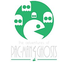 The adventures of Pac-Man and Ghosts Photographic Print