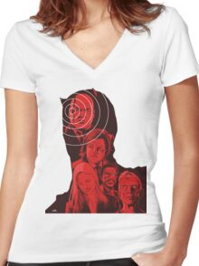 Daredevil Montage Women's Fitted V-Neck T-Shirt