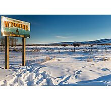 Welcome to Wyoming in the Winter Photographic Print