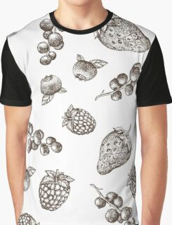 Sweet hand drawing vector seamless pattern. Berry sketch illustration Graphic T-Shirt