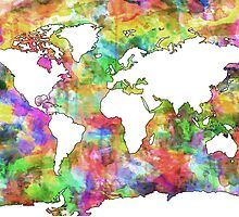 World Map watercolor 6 by BekimART