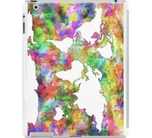 World Map watercolor 6 iPad Case/Skin