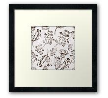 Medicine herb vector seamless nature pattern. Hand drawing sketch illustration Framed Print