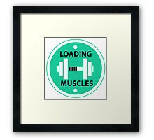 Loading Muscles  Framed Print