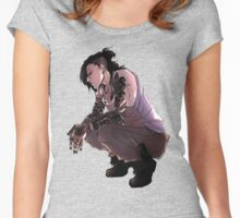 tokyo ghoul sitdown Women's Fitted Scoop T-Shirt