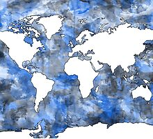world map watercolor 7 by BekimART