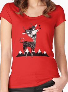 Singing Deer of the Shaggy Mountains Women's Fitted Scoop T-Shirt