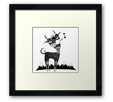 Singing Deer of the Shaggy Mountains Framed Print