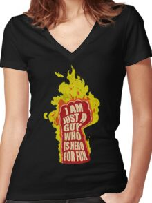 Hero for fun Women's Fitted V-Neck T-Shirt