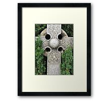 Celtic cross, Old Town Cemetery, Church of the Holy Rude, Stirling Framed Print
