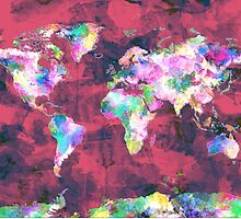 world map watercolor 8 by BekimART