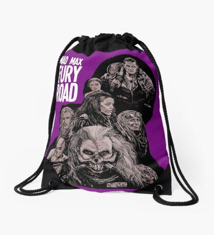 Mad Max Fury Road with Logo Drawstring Bag
