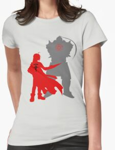 Edward and Alphonse Elric FullMetal Alchemist Womens Fitted T-Shirt