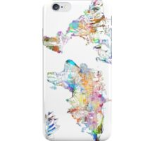 world map collage 4 iPhone Case/Skin