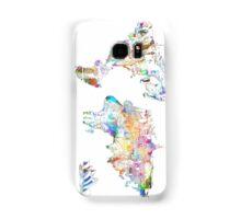 world map collage 4 Samsung Galaxy Case/Skin