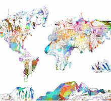 world map collage 4 by BekimART