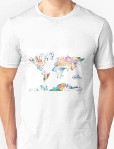 world map collage 4 T-Shirt