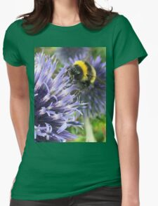 Bee on flower Womens Fitted T-Shirt