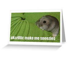 lolz Allergic Hamster Greeting Card
