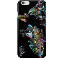 world map collage 5 iPhone Case/Skin