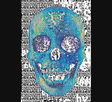 pixilated skull 012 by #RootCat Women's Fitted V-Neck T-Shirt