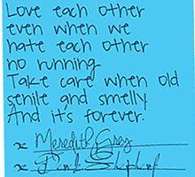 Grey's Anatomy Sticky Note by amariei