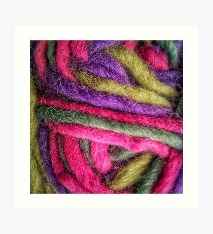 Knit Texture 02 Art Print