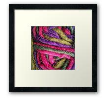 Knit Texture 02 Framed Print