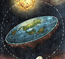 Flat Earth Sun & Moon by waney1