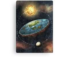 Flat Earth Sun & Moon Canvas Print