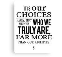 Albus Dumbledore Quote - Harry Potter Canvas Print