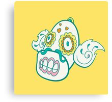 Weepinbell Pokemuerto | Pokemon & Day of The Dead Mashup Canvas Print