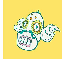 Weepinbell Pokemuerto | Pokemon & Day of The Dead Mashup Photographic Print