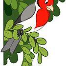 Hawaiian birds 3 - Red-crested cardinal by HenriekeG
