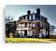 Historic Shirley Plantation Main House, James River Canvas Print