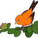 Hawaiian birds 2 - Akepa by HenriekeG