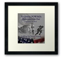 2016 POW Remembrance Day Official Poster Framed Print