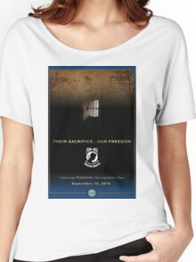 Defense Department POW/MIA Recognition Day 2016 Poster Women's Relaxed Fit T-Shirt