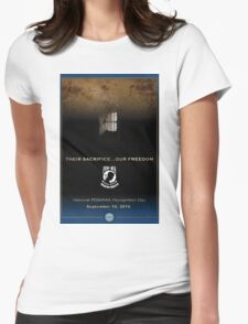 Defense Department POW/MIA Recognition Day 2016 Poster Womens Fitted T-Shirt