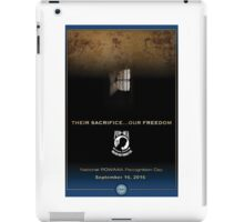 Defense Department POW/MIA Recognition Day 2016 Poster iPad Case/Skin