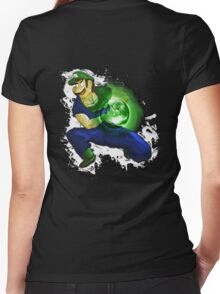Kamehame-Luigi Women's Fitted V-Neck T-Shirt