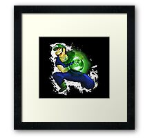 Kamehame-Luigi Framed Print