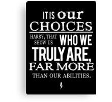 Albus Dumbledore Quote white - Harry Potter Canvas Print
