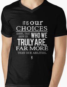 Albus Dumbledore Quote white - Harry Potter Mens V-Neck T-Shirt
