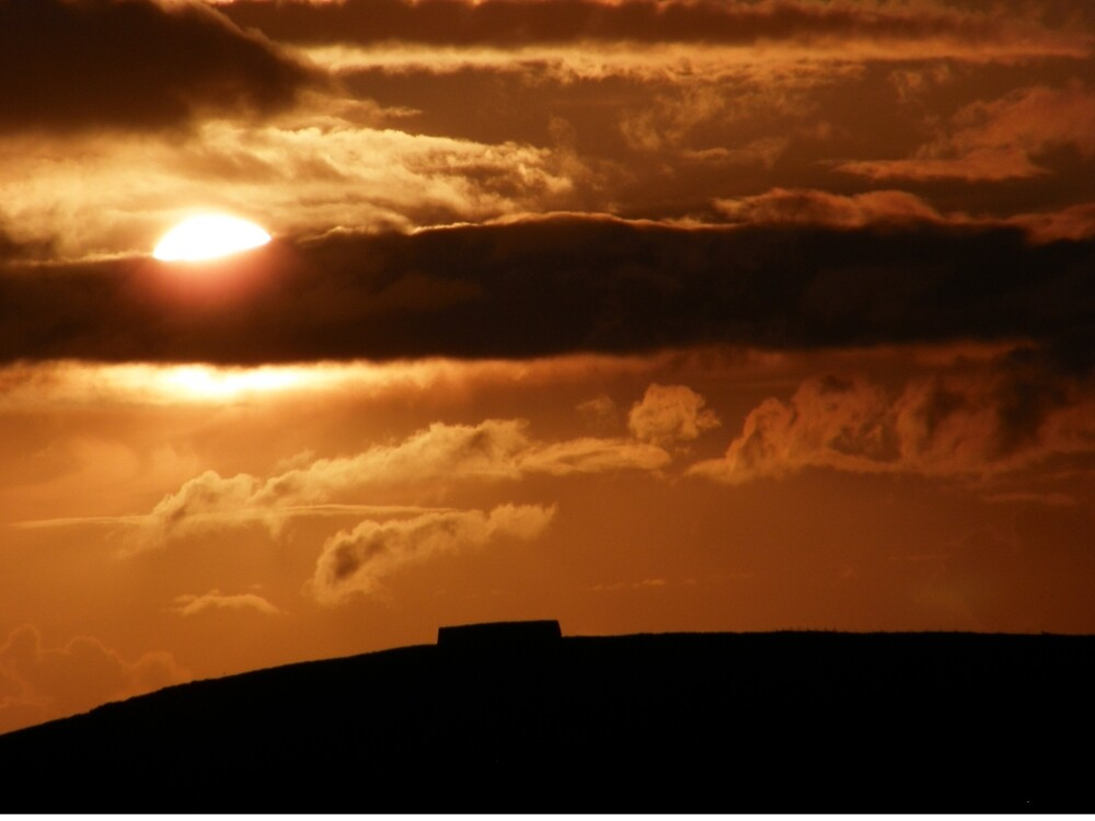 Grianian of Aileach Sunset ,Donegal, Ireland  by mikequigley