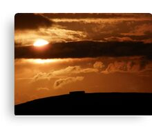 Grianian of Aileach Sunset ,Donegal, Ireland  Canvas Print