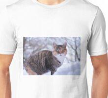White Moustache Cat Unisex T-Shirt