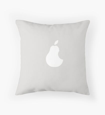 Ironic Pear Computer Skin Throw Pillow